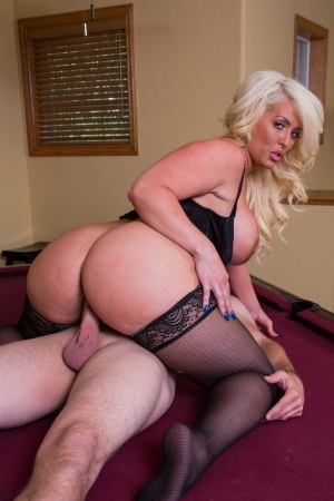 BBW hotwife Alura 'TNT' Jenson fucks a young stud to a dripping creampie
